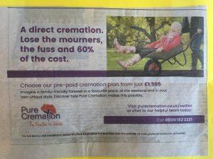 Humor en lef in een Britse advertentie